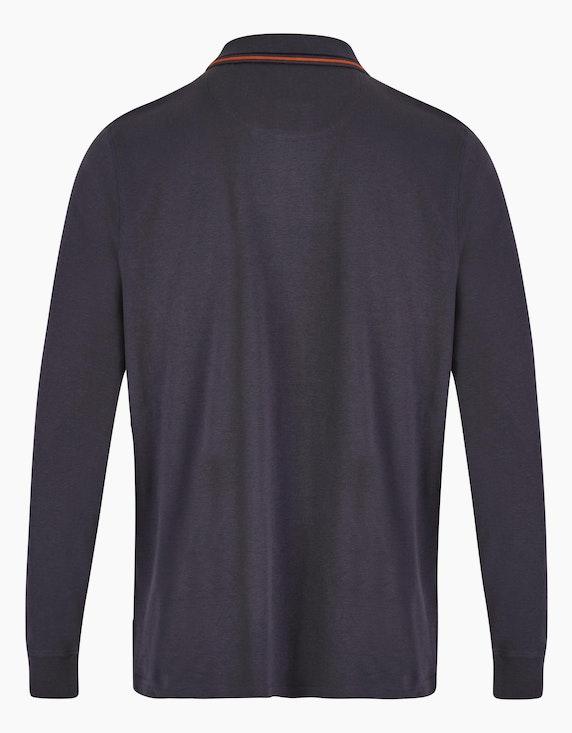 Bexleys man Lässiges Poloshirt mit Brustprint | ADLER Mode Onlineshop