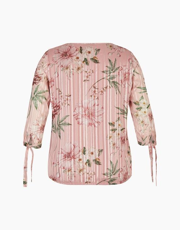 Bexleys woman Chiffonbluse mit Streifen und Blumen | ADLER Mode Onlineshop