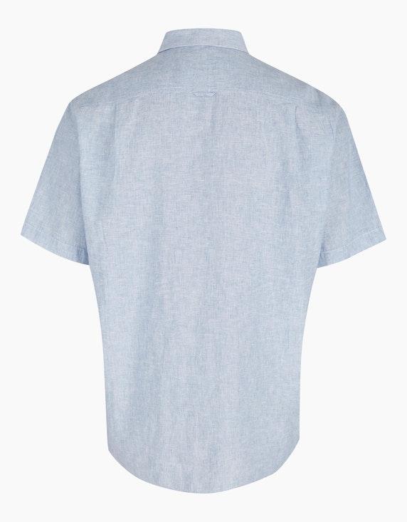 Big Fashion Leinenhemd mit Button-Down Kragen   ADLER Mode Onlineshop