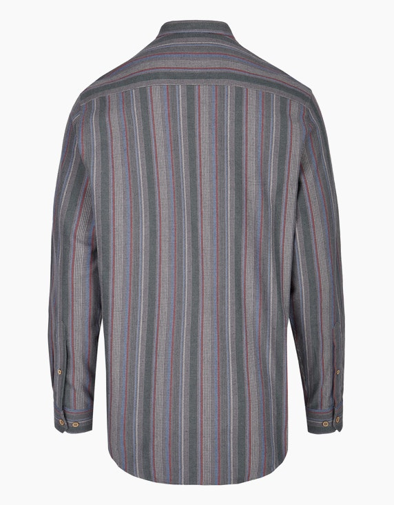 Bexleys man Flanellhemd gestreift mit Stehkragen, REGULAR FIT | ADLER Mode Onlineshop