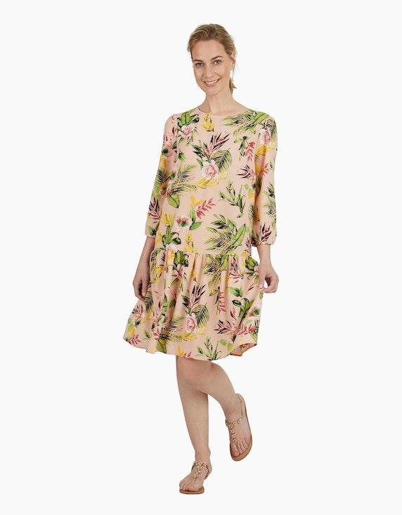 Viventy Crêpe-Kleid mit Ärmeln in 3/4 Länge   ADLER Mode Onlineshop