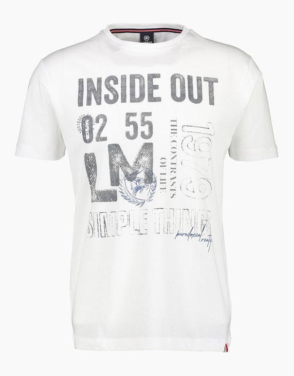 Lerros T-Shirt mit Statement-Print | ADLER Mode Onlineshop