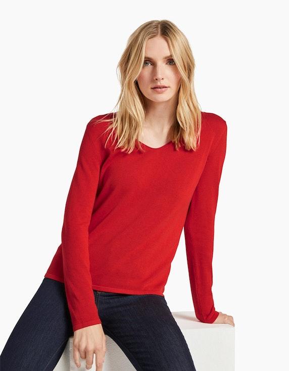 Tom Tailor Feinstrick-Pullover mit V-Ausschnitt | ADLER Mode Onlineshop