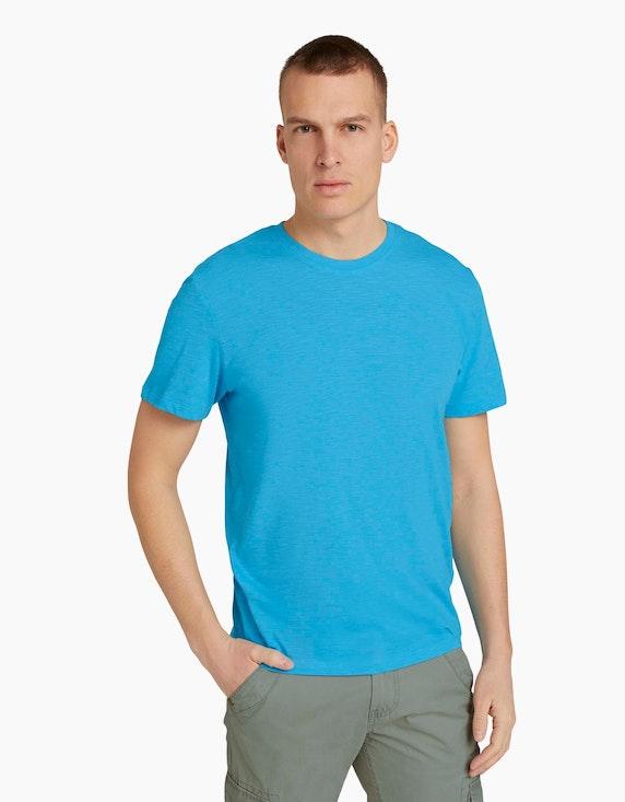 Tom Tailor T-Shirt in Melange-Optik   ADLER Mode Onlineshop