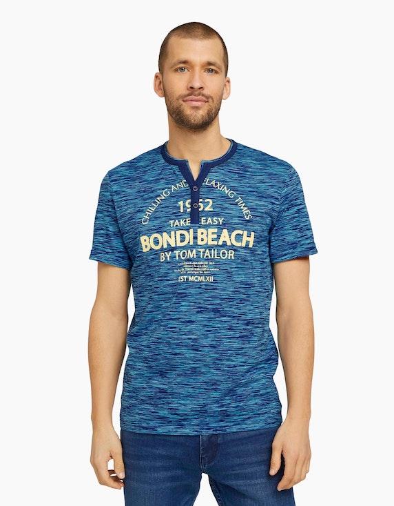 Tom Tailor Serafino T-Shirt mit Print   ADLER Mode Onlineshop