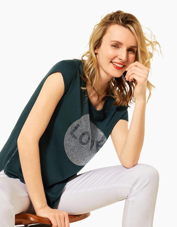 Street One T-Shirt mit Steinchen-Deko | ADLER Mode Onlineshop