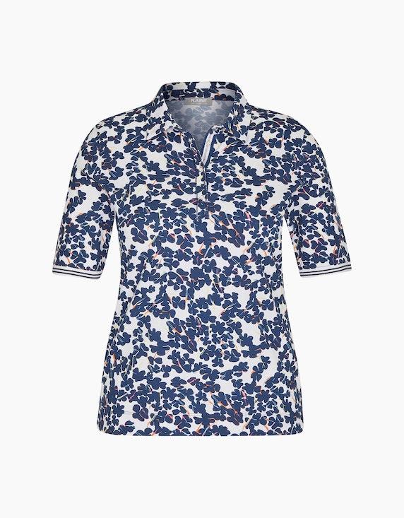Rabe Poloshirt mit geblümtem Muster | ADLER Mode Onlineshop