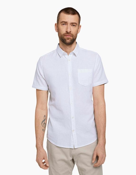 Tom Tailor Strukturiertes Kurzarmhemd   ADLER Mode Onlineshop