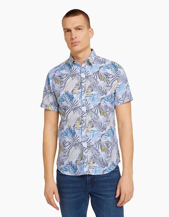 Tom Tailor Gemustertes Hemd aus Bio-Baumwolle   ADLER Mode Onlineshop