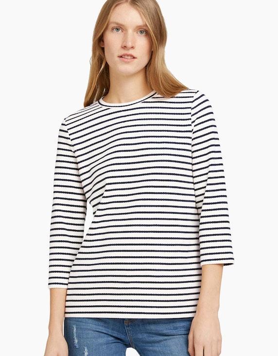 Tom Tailor Jacquard-Shirt im Streifen-Look   ADLER Mode Onlineshop