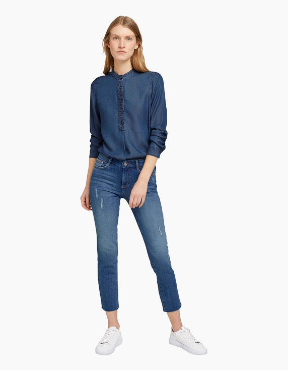 Tom Tailor Jeans-Bluse mit Rüschen-Details   ADLER Mode Onlineshop