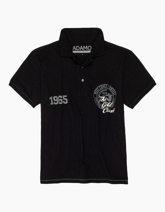 Big Fashion Poloshirt mit Brustdruck | ADLER Mode Onlineshop