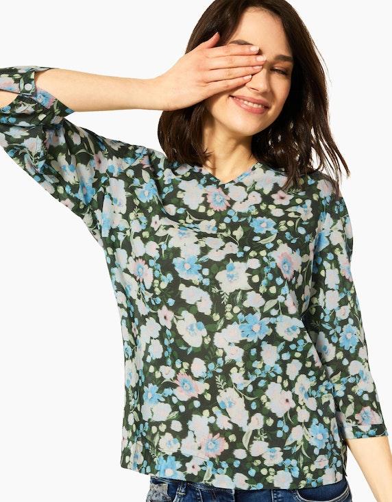 CECIL Baumwoll-Schlupfbluse mit floralem Muster | ADLER Mode Onlineshop