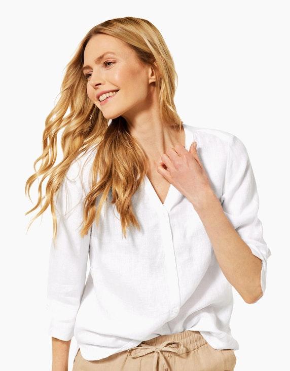 CECIL Unifarbene Bluse aus reinem Leinen | ADLER Mode Onlineshop