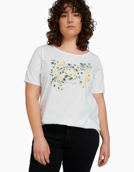 My True Me T-Shirt mit Blumenprint aus Bio-Baumwolle   ADLER Mode Onlineshop
