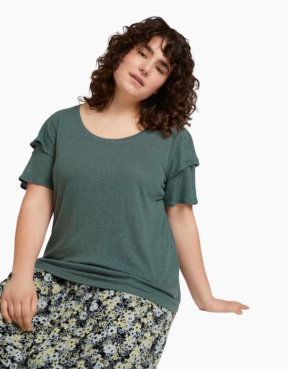 My True Me T-Shirt mit Rüschenärmel   ADLER Mode Onlineshop