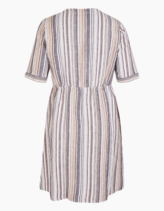 No Secret Gestreiftes Leinenkleid mit durchgehender Knopfleiste | ADLER Mode Onlineshop