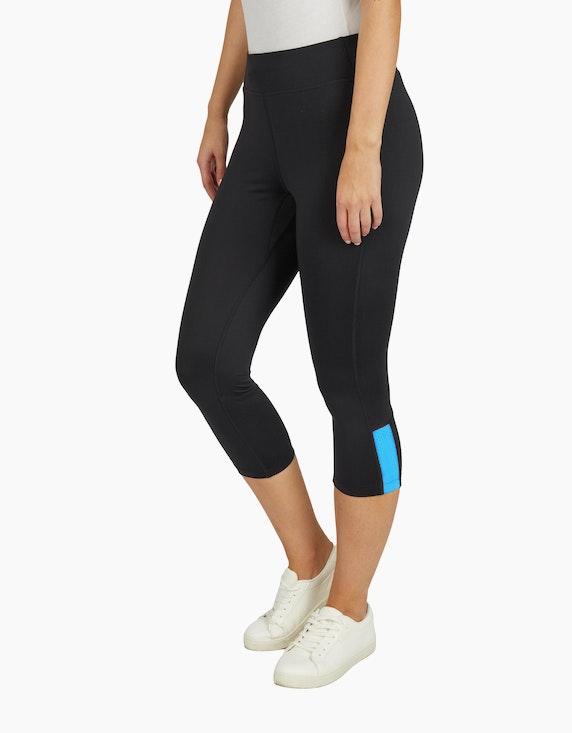 Fit&More Fitness Caprihose mit Mesheinsatz | ADLER Mode Onlineshop