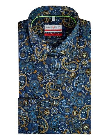 Produktbild zu <strong>Dresshemd mit trendigem Paislyemuster</strong>MODERN FIT von Marvelis