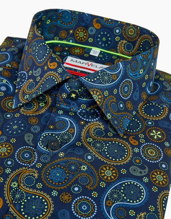 Marvelis Dresshemd mit trendigem Paislyemuster, MODERN FIT | ADLER Mode Onlineshop