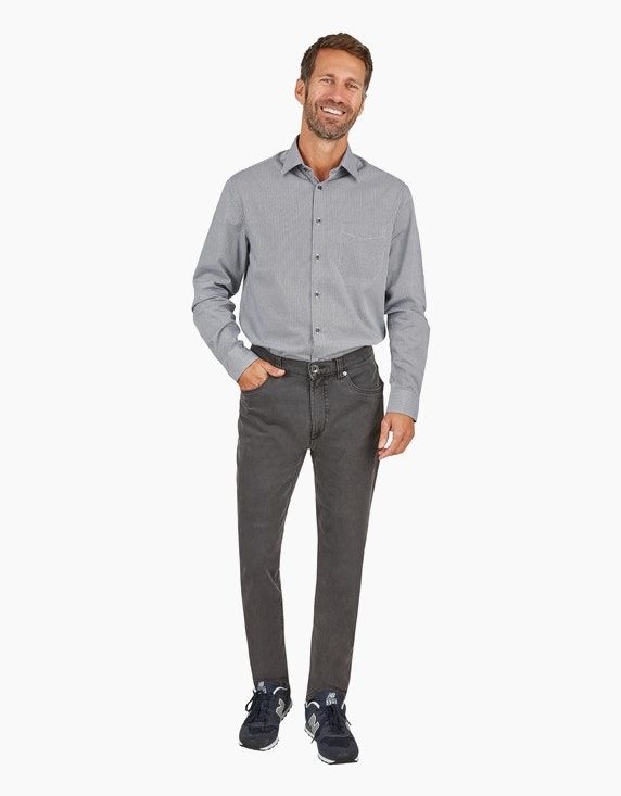 Bexleys man Freizeithemd mit Allovermuster, REGULAR FIT in Schwarz/Weiß | ADLER Mode Onlineshop