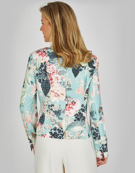 KS. selection Crêpe-Blazer mit floralem Druck | ADLER Mode Onlineshop