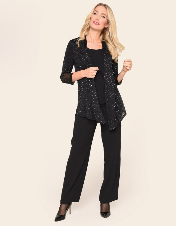 KS. selection Kleiderjacke aus Chiffon | ADLER Mode Onlineshop