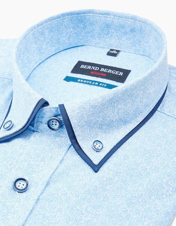 Bernd Berger Dresshemd, langarm, gemustert, REGULAR FIT | ADLER Mode Onlineshop
