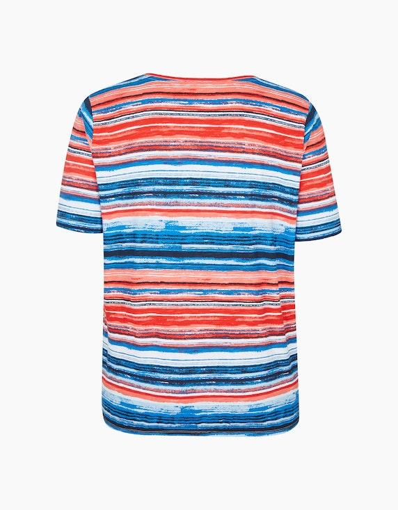 Thea Jersey-Shirt mit Allover-Druck, Baumwoll-Viskose-Qualität | ADLER Mode Onlineshop