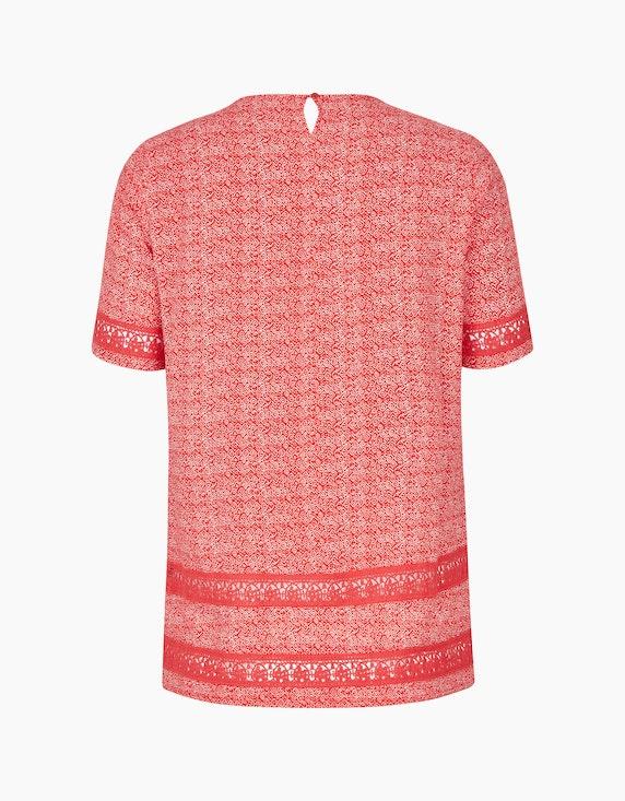 Thea Blusenshirt mit Spitze und Biesen auf reiner Viskose | ADLER Mode Onlineshop