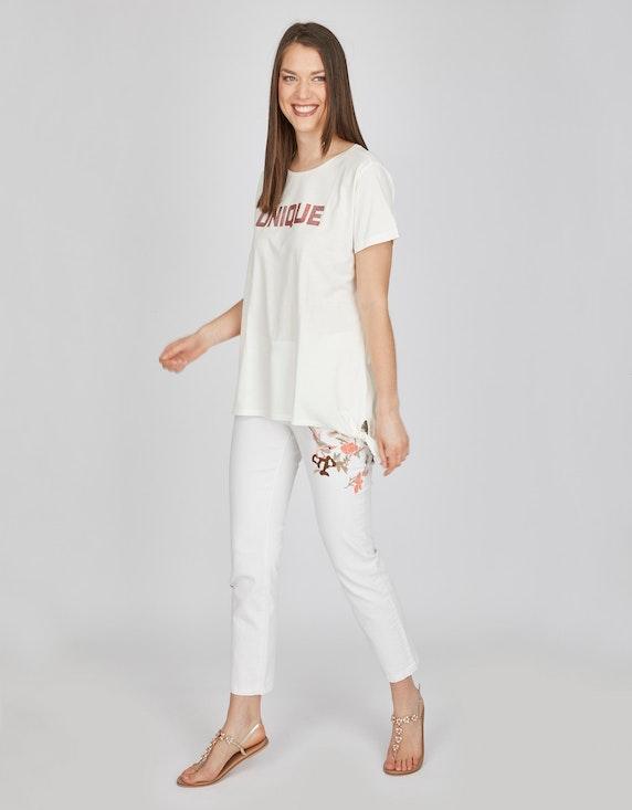 MY OWN Shirt mit Letterprint und Knoten, reine Baumwolle | ADLER Mode Onlineshop