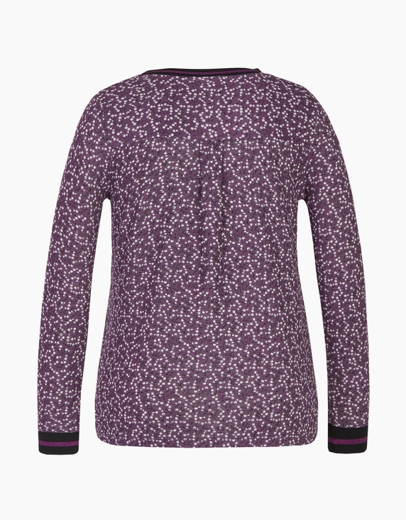 Bexleys woman Langarmshirt mit Glitzerbündchen | ADLER Mode Onlineshop