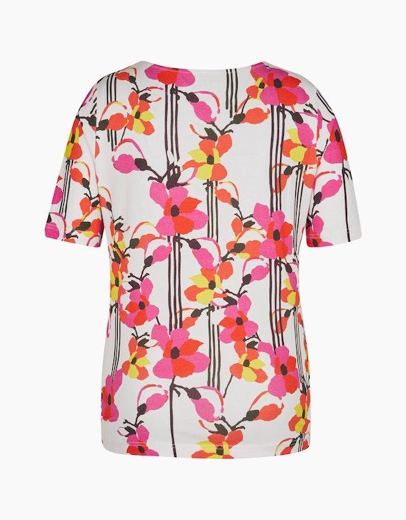 Roses & Angels Kurzarmshirt mit floralem Druck | ADLER Mode Onlineshop