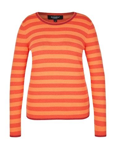 Produktbild zu gestreifter Pullover mit Glitzerdetails von Bexleys woman