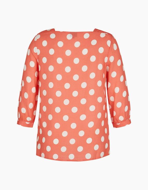 Bexleys woman Bluse mit Polka Dots und Carrée-Ausschnitt | ADLER Mode Onlineshop