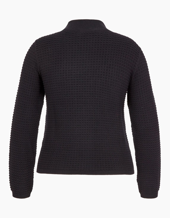 MY OWN Pullover mit Noppen-Struktur und Stehkragen, Baumwolle | ADLER Mode Onlineshop