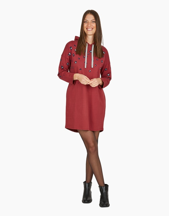 MY OWN Sweat-Kleid mit Kapuze und Leo-Print | ADLER Mode Onlineshop