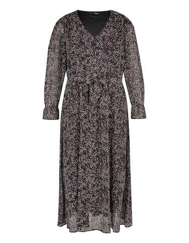 Produktbild zu Langes Chiffon-Kleid mit Volant und Bindegürtel von MY OWN