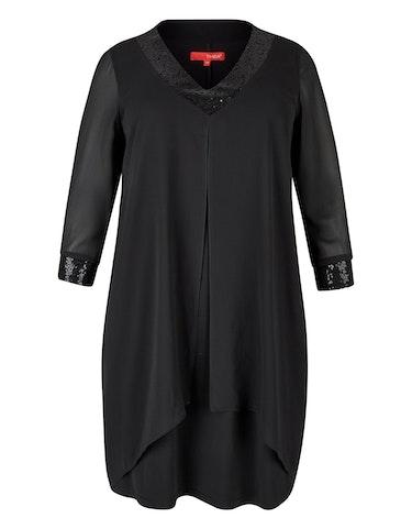 Produktbild zu Chiffon-Kleid mit Paillettenbesatz von Thea