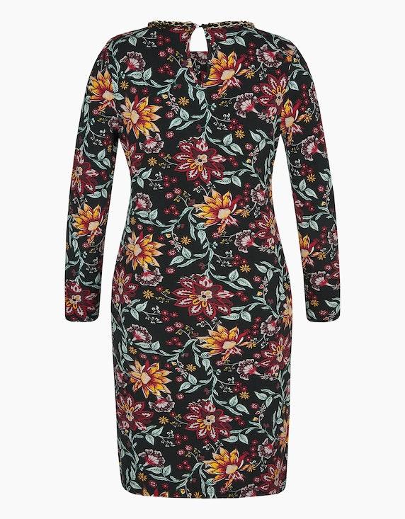 Viventy Jersey-Kleid mit floralem Druck und Ketten-Detail | ADLER Mode Onlineshop
