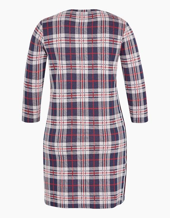 Via Cortesa Jersey-Kleid mit Jacquard-Karo | ADLER Mode Onlineshop