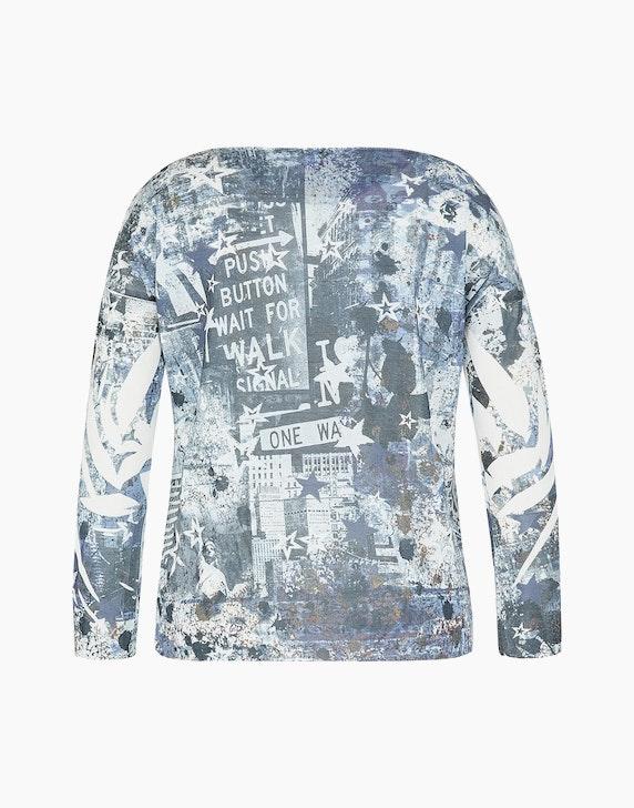 Via Cortesa Feinstrick-Shirt mit Allover-Print und Stern | ADLER Mode Onlineshop