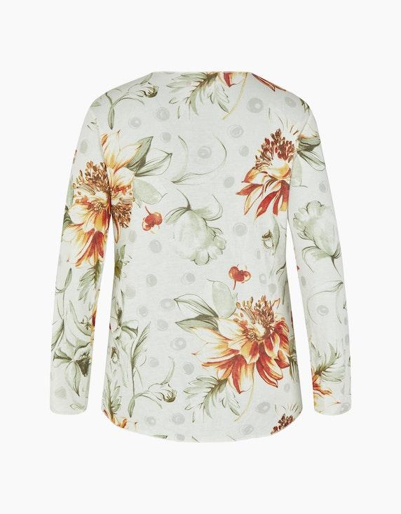 Thea Feinstrick-Shirt mit floralem Druck | ADLER Mode Onlineshop