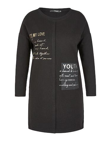 Produktbild zu <strong>Sweat-Kleid mit Folien-Letter-Print</strong>Baumwoll-Stretch von MY OWN