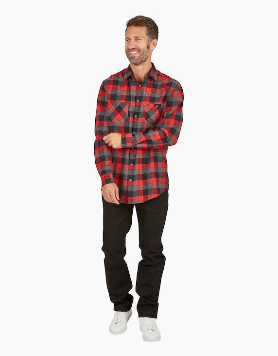 Bexleys man Kariertes Flanellhemd mit zwei Brusttaschen, REGULAR FIT | ADLER Mode Onlineshop