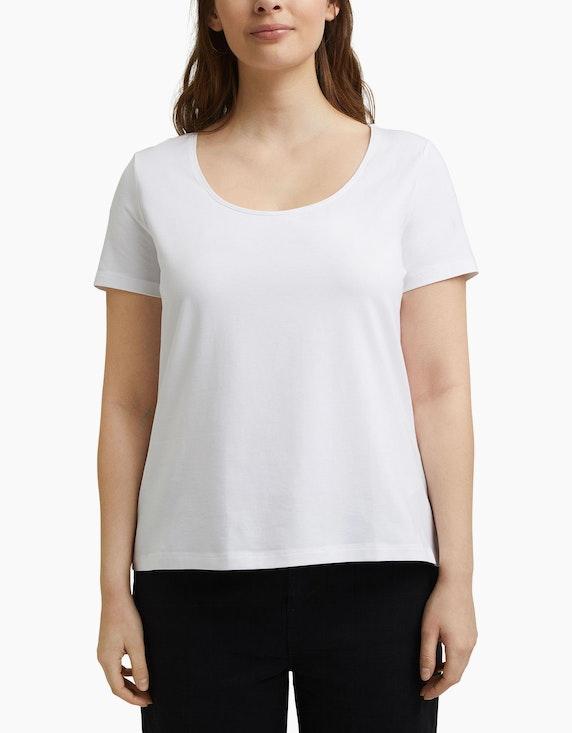 Esprit CURVY Basic-T-Shirt aus Organic Cotton   ADLER Mode Onlineshop