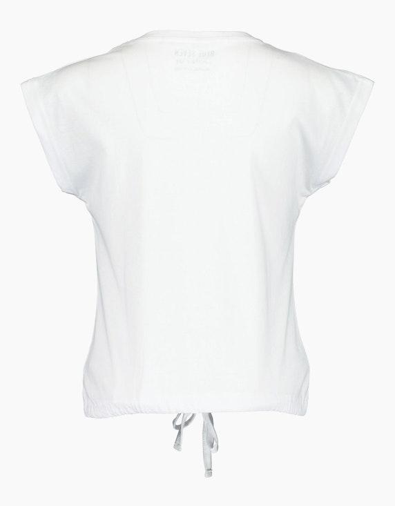 Blue Seven Girls T-Shirt mit Statement-Print und Tunnelzug | ADLER Mode Onlineshop