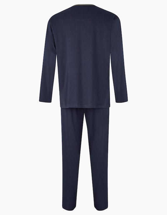 Big Fashion Pyjama mit Colorblock | ADLER Mode Onlineshop