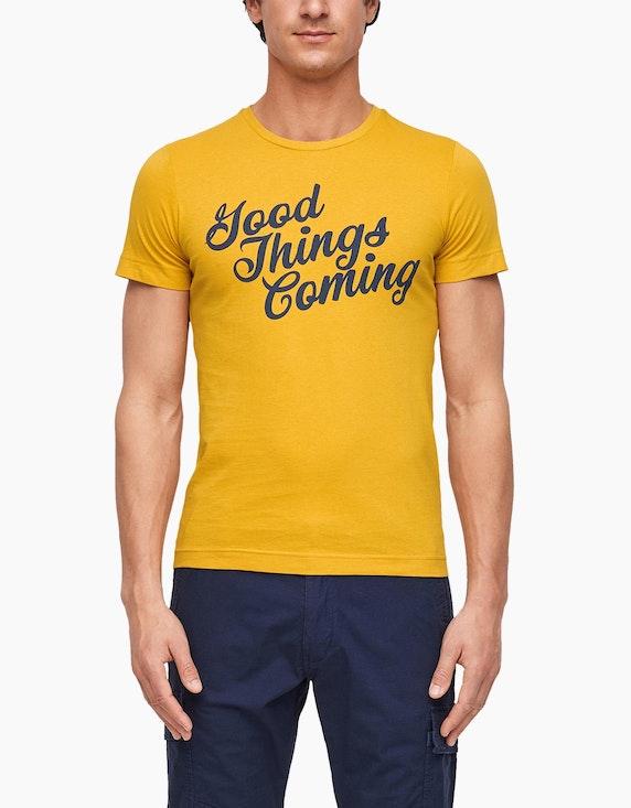 s.Oliver Jerseyshirt mit Statement-Print | ADLER Mode Onlineshop