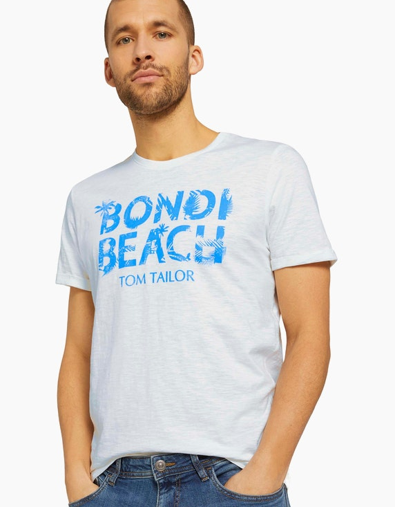 Tom Tailor Print T-Shirt mit Bio-Baumwolle   ADLER Mode Onlineshop